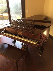 1866 STEINWAY CONCERT GRAND PIANO D (FULLY RESTORED) ROSEWOOD ART CASE